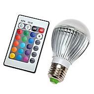 9W E26/E27 LED-bollampen 350LM lm RGB Dimbaar / Op afstand bedienbaar / Decoratief AC 100-240 V 1 stuks