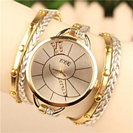 Dames Dress horloge Modieus horloge Armbandhorloge Kwarts Leer Band Bohémien Wit Blauw Bruin Groen Goud roze