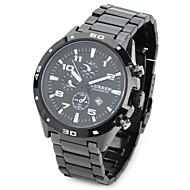 CURREN® 8021 Stylish Water Resistant Quartz Wrist Watch  (Black) Cool Watch Unique Watch