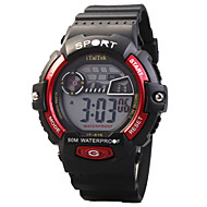 Lasten Urheilukello Muotikello Rannekello Digitaalinen Watch Quartz Digitaalinen LED Vedenkestävä Loistava Silikoni Bändi Arki- Tyylikäs
