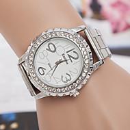 yoonheel 女性用 ファッションウォッチ カジュアルウォッチ ダミー ダイアモンド 腕時計 模造ダイヤモンド スイスの デザイナー クォーツ 金属 バンド シルバー ゴールド ローズゴールド