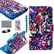 Varten Lomapkko / Korttikotelo / Tuella / Flip / Kuvio Etui Kokonaan peittävä Etui Geometrinen printti Kova Tekonahka Samsung S6