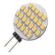 3W G4 LED-spotlampen 24LED SMD 3528 500 lm Warm wit / Koel wit DC 12 V 1 stuks