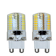 1 pcs  G9 6 W 64LED X SMD 3014 450-600 LM 2800-3500/6000-6500 K Warm White/Cool White Corn Bulbs AC 220V