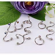 Women's Body Jewelry Eyebrow Jewelry Labret/Lip Piercings/Lip Ring Ear Piercing Crystal Stainless Steel Unique Design Fashion Jewelry
