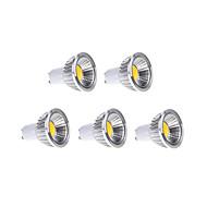 5W GU10 Focos LED MR16 1 COB 450 lm Blanco Cálido / Blanco Fresco / Blanco Natural Regulable AC 100-240 V 5 piezas