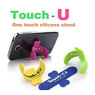 cep telefonu akıllı telefon dokunmatik u samsung için iphone için silikon standı tutucu yazın