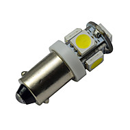 JIAWEN® BA9S 1W 5X5050SMD 70-100LM 6000-6500K Cool White  LED Car Light (DC 12V)