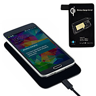 Qi Standard Wireless Charger + Receiver Tag For Samsung Galaxy S5 I9600 G900 Hot