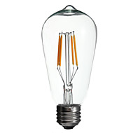 4W 400LM 3000K Warm White ST58 filament lamp(AC110V-240V)