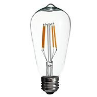 Lampade LED a incandescenza 4 COB E26/E27 4 W 400 LM Giallo 1 pezzo AC 100-240 V