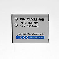 Olympus - OLYMPUS Li-50B/D-LI92/RICOH DB-100 - Li-ion - Batteri - tillFE-20, FE-360, Mju 1010, Mju 1020, Mju 1040, Mju 1050SW, Mju