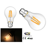 2 st ONDENN B22 6 COB 600 LM Varmvit A60(A19) edison Vintage LED-glödlampor AC 220-240 / AC 110-130 V