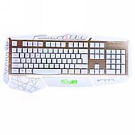 Dare-u USB Wired RGB Backlight Mechanical Feel 19 Anti-ghosting Key Gaming Keyboard (White)