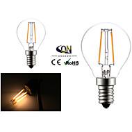 2W E14 フィラメントタイプLED電球 G45 2 COB 200 lm 温白色 交流220から240 V 2個