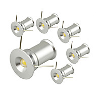 [6PCS/Lot] 1W*6pcs 6W 100LM COB LED Warm White/Cold White Round Led Spotlight with Cutout 15mm No Dimmable (AC85-265V)