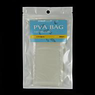 200pcs 7cm x 15cm fáciles carpa abierta bolsas de PVA pesca de agua para disolver 50pcs / bag x 4 bolsas