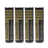 Ullra Fira 3.7V 6000mAh 18650 Rechargeable Lithium Ion Battery(4pcs)