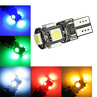 2 pcs ding yao T10 2W 5X SMD 5050 120LM Cool White/Red/Blue/Yellow/Green Decorative Decoration Light DC 12V