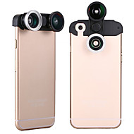 Apexel  4-in-1 2 Fish Eye Lens + 2 in 1 Macro Lens and Wide Angle Lens Phone Camera Lens Kit for iPhone 6 Plus