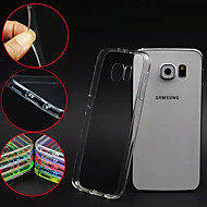GYM Luxury Clear TPU Frame Acrylic Back Case for Samsung Galaxy S6 Edge G9250(Assorted Color)