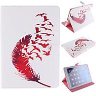 Red Feather Design PU Full Body Case with Stand for iPad mini3 mini2 mini