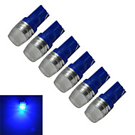 1.5W T10 Dekorationslampe 1 Højeffekts-LED 90lm lm Blå DC 12 V 6 stk.