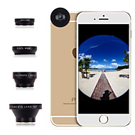 Apexel 4 in 1 Universal Magnetic Fish Eye Lens+Macro+Wide Angle+2X Telephoto Lens for iPhone /Samsung and Others