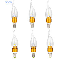 6pcs MORSEN® 7W E14 650-700LM 3000-3500K Warm White Color LED Candle Style Candle Bulb (85-265V)