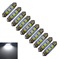 JIAWEN® 10pcs Festoon 36mm 1W 3x5050SMD 60LM 6000-6500K Cool White Reading Light LED Car Light (DC 12V)