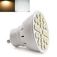 5W GU10 LED-spotlights 24LED SMD 5050 350-680 lm Varmvit / Kallvit AC 220-240 V 1 st
