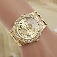 yoonheel 아가씨들 패션 시계 모조 다이아몬드 시계 모조 다이아몬드 스위스 디자이너 석영 메탈 밴드 골드