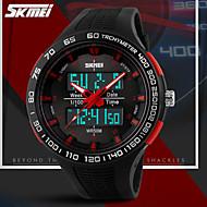 Montre de Sport Plastique ( LCD/Calendrier/Chronographe/Résistant à l'eau/Double Fuseaux Horaires/penggera ) Analogique-Numérique - Quartz