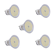 5Pcs GU10 6W 60x2835SMD 720LM 2800-3200K/6000-6500K Warm White/Cool White Light LED Spot Bulb (200-240V)