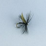 12pcs mosquito negro tamaño mosca pesca de la trucha # 10