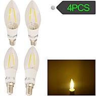 Lampes LED à Filament Décorative Blanc Chaud YouOKLight 4 pièces E14 2 W 2 COB 180 LM AC 100-240 V