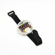 / 벨크로 밴드 w DIY 4 자리 7 세그먼트 디스플레이 디지털 시계 키트 - 검정 반투명 +