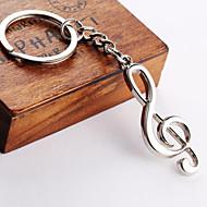 unisexe porte-clés en alliage note porte-clés