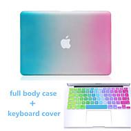 hög kvalitet övertoningsfärgen hårt hela kroppen fallet och TPU tangentbord fodral för MacBook Air 13,3 tum