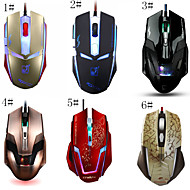 Control 3500 DPI Computer Gaming Mouse Breathing Light Transmittance Mouse for PC/Laptop