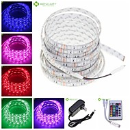 5M 72W RGB Waterproof 300x5050SMD LED Strip Lamp + 12V 2A Power Adapter + 24-Key IR Controller