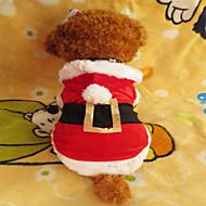 개 후드 레드 강아지 의류 겨울 크리스마스