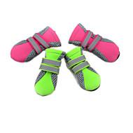 Katzen Hunde Schuhe und Stiefel Wasserdicht Winter Frühling/Herbst einfarbig Grün Rosa Stoff