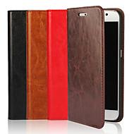 Voor Samsung Galaxy hoesje Hoesje cover Portemonnee Kaarthouder met standaard Flip Volledige behuizing hoesje Effen kleur Zacht Echt leer