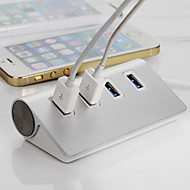 høy kvalitet sliver usb 3.0 hub hub 4 porter splitter adapter aluminium for Apple MacBook Air pc laptop