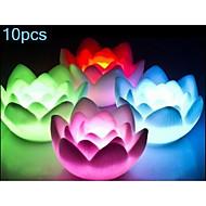 10pcs MORSEN® 0.5W RGB Color Lotus Lamps Night Light