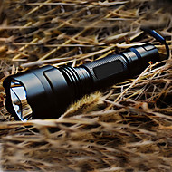 c8 5 Tryb Cree XR-E Q5-LED Flashlight (1x18650, czarny)