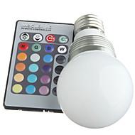 3 st E14 3 W 3 LM RGB Dimbar/Fjärrstyrd/Dekorativ Globglödlampa AC 100-240 V