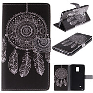 Na Samsung Galaxy Note Portfel / Etui na karty / Z podpórką / Flip Kılıf Futerał Kılıf Łapacz snów Skóra PU Samsung Note Edge