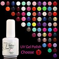 LIBEINE UV Color Gel Nail Polish No.013-024 (15 ml,Assorted Colors)